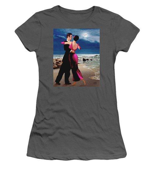 Moonlight Dance Women's T-Shirt (Athletic Fit)