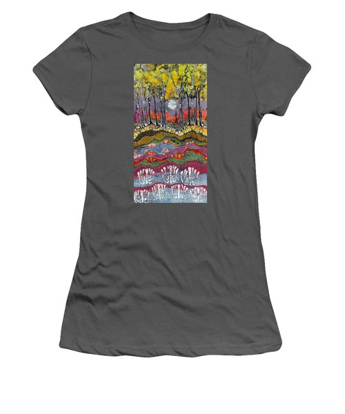 Moonlight Over Spring Women's T-Shirt (Athletic Fit)
