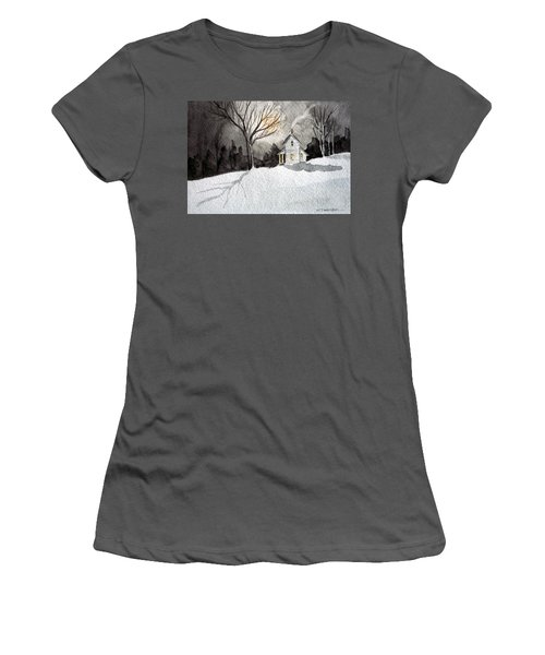 Moonlit Snow Women's T-Shirt (Athletic Fit)