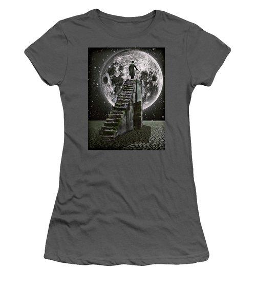 Moonrise Women's T-Shirt (Junior Cut) by Mihaela Pater