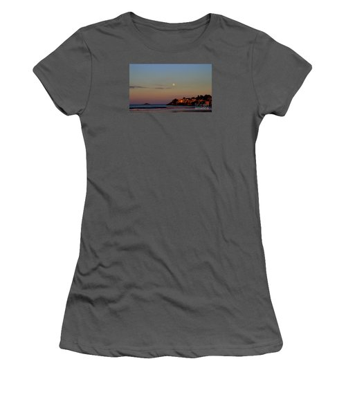 Moonrise  Over Nahant Women's T-Shirt (Athletic Fit)