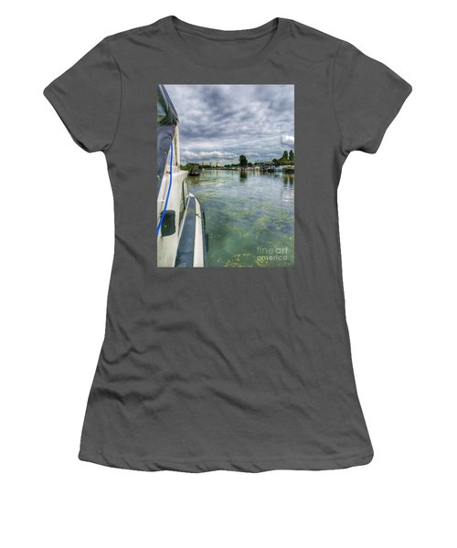 Moored At The Marina Women's T-Shirt (Athletic Fit)