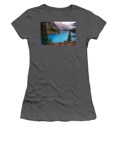 Moraine Lake Women's T-Shirt (Junior Cut) by Heather Vopni