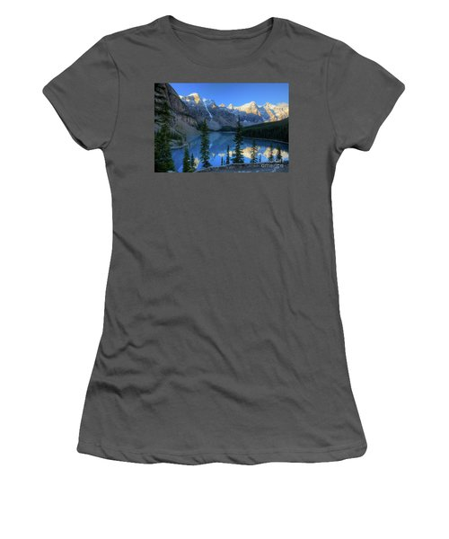 Moraine Lake Sunrise Blue Skies Women's T-Shirt (Athletic Fit)