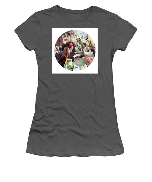Morning Coffee With Eggs Over Easy Women's T-Shirt (Athletic Fit)