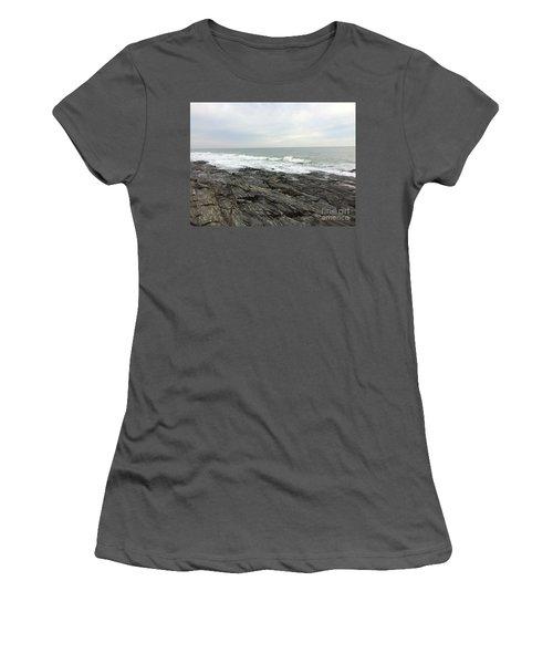 Morning Horizon On The Atlantic Ocean Women's T-Shirt (Junior Cut) by Patricia E Sundik