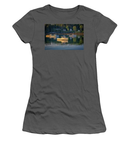 Women's T-Shirt (Athletic Fit) featuring the photograph Morning In Tenants Harbor by Rick Berk