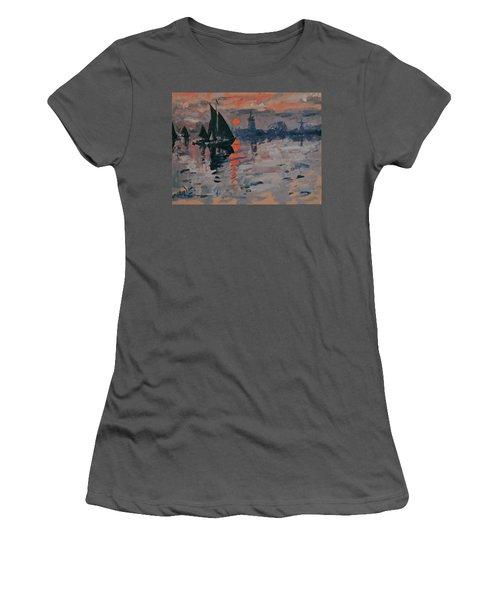 Morning In Zaanse Schans Women's T-Shirt (Athletic Fit)