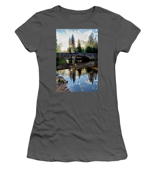 Morning Light Along The Merced River Women's T-Shirt (Athletic Fit)