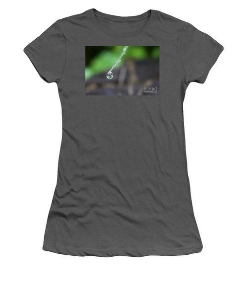 Morning Rain Drops Women's T-Shirt (Junior Cut) by Kym Clarke