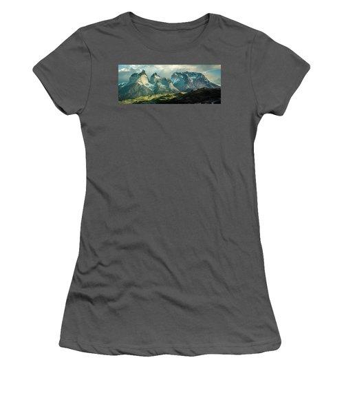 Morning Shadows Women's T-Shirt (Junior Cut) by Andrew Matwijec