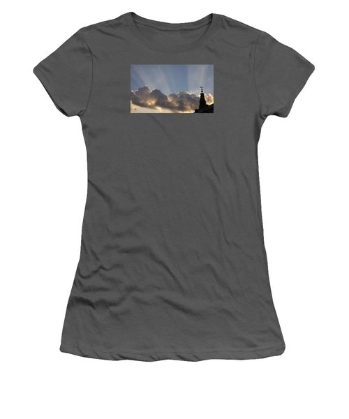 Women's T-Shirt (Junior Cut) featuring the photograph Morning Sky by Inge Riis McDonald
