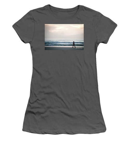 Morning Walk With Color Women's T-Shirt (Athletic Fit)