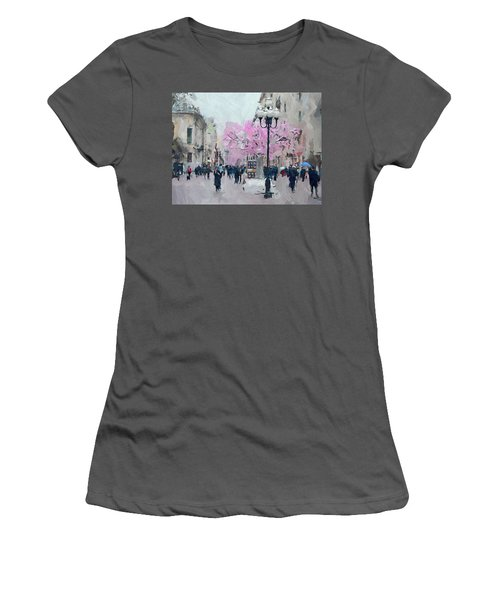 Moscow Arbat Street View Women's T-Shirt (Athletic Fit)