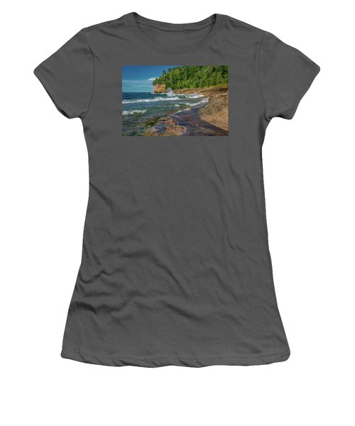 Mosquito Harbor Waves  Women's T-Shirt (Athletic Fit)