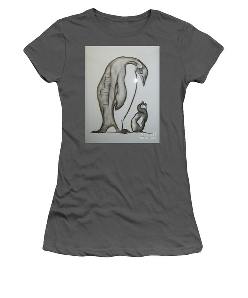 Mother And Child Penguins Women's T-Shirt (Athletic Fit)