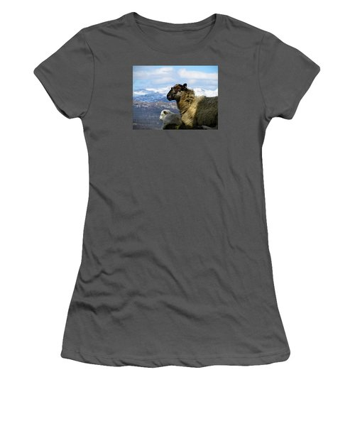 Mother And Lamb Women's T-Shirt (Junior Cut) by RKAB Works