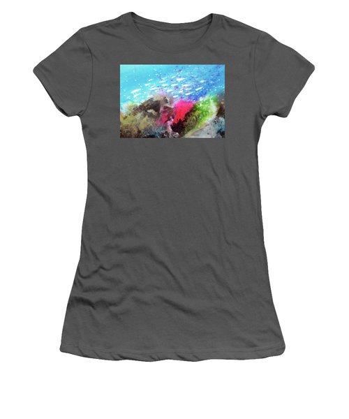 Women's T-Shirt (Junior Cut) featuring the painting Motu Anua by Ed Heaton
