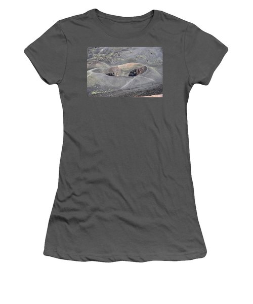 Mount Etna Caldera Women's T-Shirt (Athletic Fit)