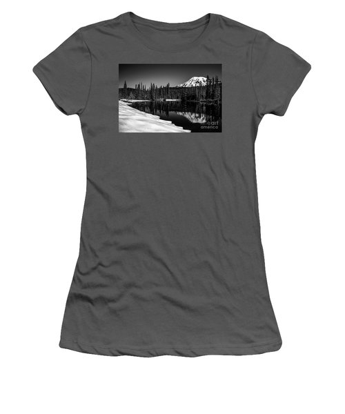 Mount Rainier Reflection Women's T-Shirt (Athletic Fit)