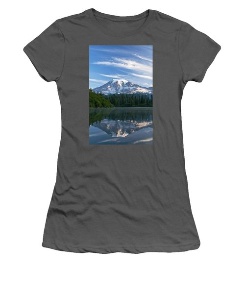 Mount Rainier Reflections Women's T-Shirt (Athletic Fit)