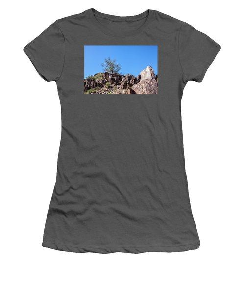 Mountain Bush Women's T-Shirt (Junior Cut) by Ed Cilley