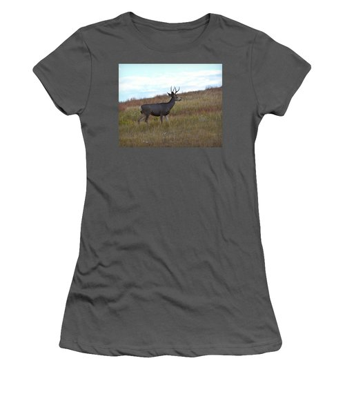 Mountain Climbing Deer Women's T-Shirt (Athletic Fit)