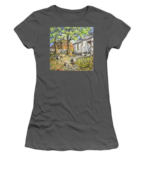 Mountain Cottage Women's T-Shirt (Junior Cut) by Marty Garland