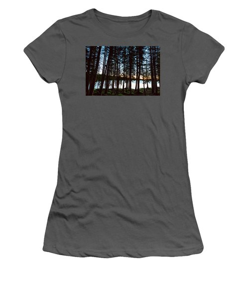 Women's T-Shirt (Junior Cut) featuring the photograph Mountain Forest Lake by James BO Insogna