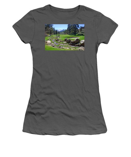 Mountain Golf Course Women's T-Shirt (Athletic Fit)