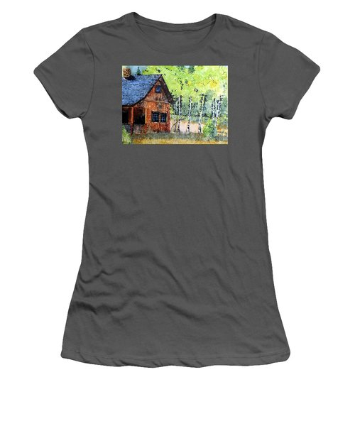 Mountain Home Women's T-Shirt (Junior Cut) by Tom Riggs