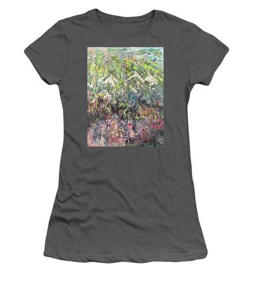 Mountain Of Many Colors Women's T-Shirt (Junior Cut) by George Riney
