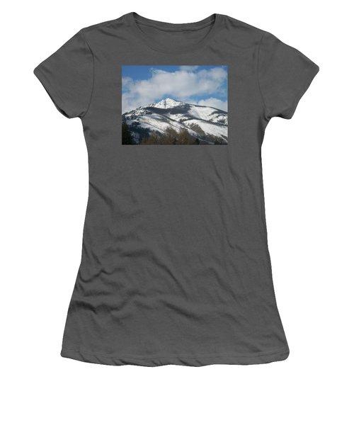 Women's T-Shirt (Junior Cut) featuring the photograph Mountain Peak by Jewel Hengen