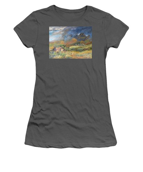 Mountain Storm Women's T-Shirt (Athletic Fit)