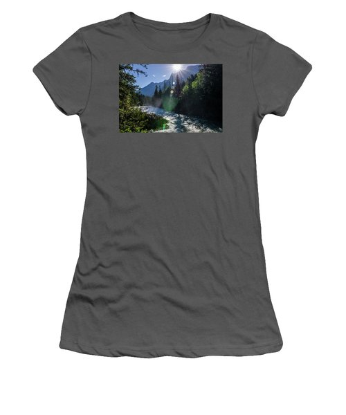 Mountain Sunburst Women's T-Shirt (Athletic Fit)