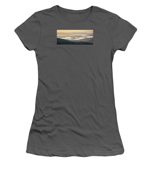 Mountain Valley Fog - Blue Ridge Parkway Women's T-Shirt (Athletic Fit)