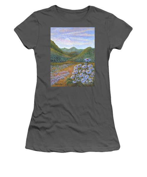 Mountains And Asters Women's T-Shirt (Athletic Fit)