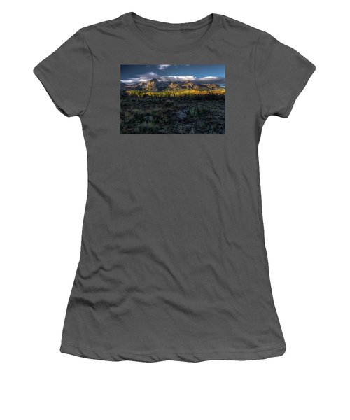 Mountains At Sunrise - 0381 Women's T-Shirt (Athletic Fit)