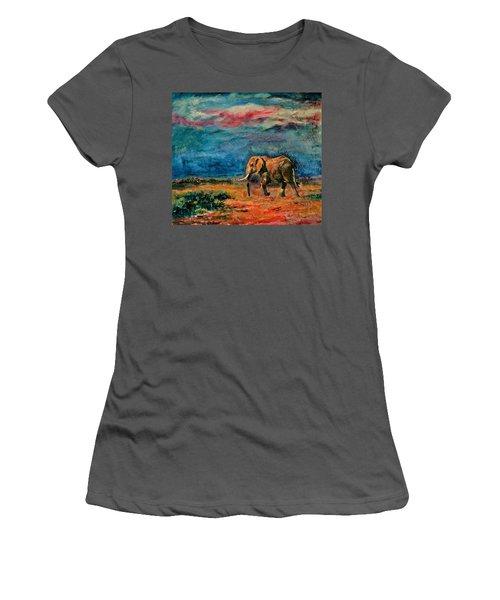 Moving Away Women's T-Shirt (Junior Cut) by Khalid Saeed