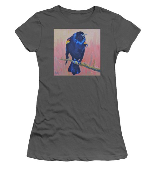 Women's T-Shirt (Junior Cut) featuring the painting Mr. Cool  by Francine Frank