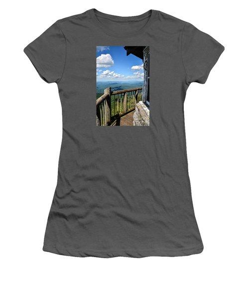 Mt. Cammerer Women's T-Shirt (Junior Cut) by Debbie Green