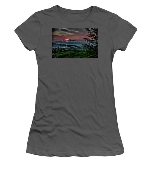 Mt. Etna I Women's T-Shirt (Athletic Fit)