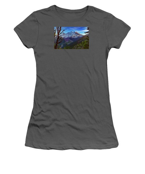 Women's T-Shirt (Junior Cut) featuring the photograph Mt Rainier At Emmons Glacier by Ken Stanback