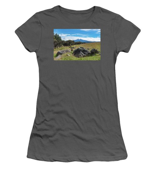 Women's T-Shirt (Athletic Fit) featuring the photograph Mt Ruapehu View by Gary Eason