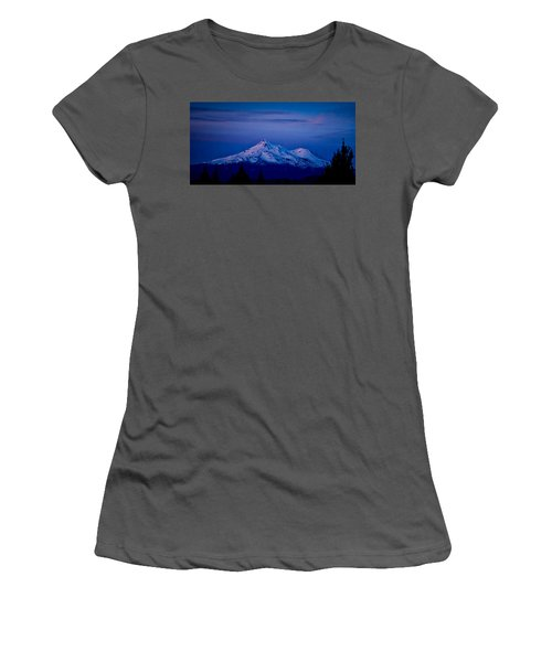 Mt Shasta At Sunrise Women's T-Shirt (Athletic Fit)