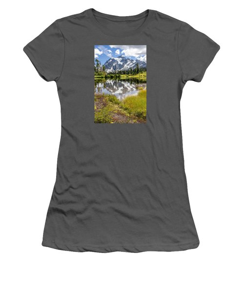 Mt Shuksan On Picture Lake 2 Women's T-Shirt (Junior Cut) by Rob Green