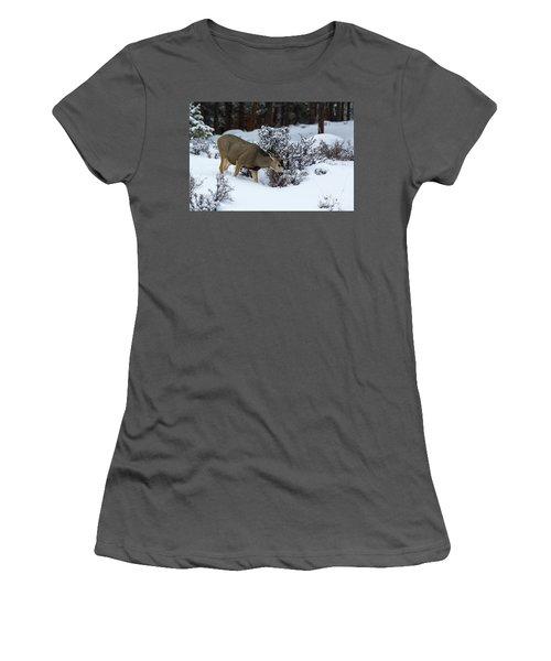 Mule Deer - 9130 Women's T-Shirt (Athletic Fit)