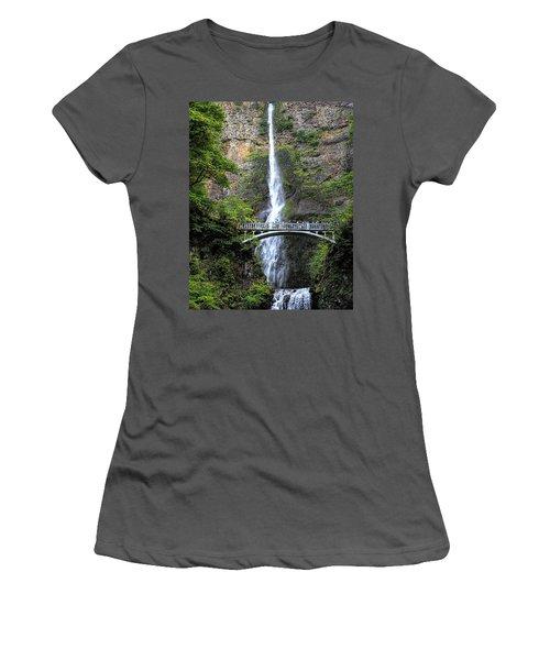 Multnomah Falls, Columbia River Gorge Women's T-Shirt (Athletic Fit)