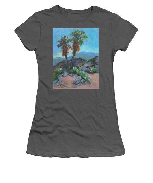 Women's T-Shirt (Junior Cut) featuring the painting Murray Trail Andreas Canyon by Diane McClary