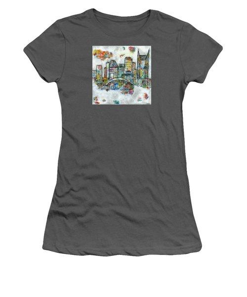 Music City Dreams Women's T-Shirt (Junior Cut) by Kirsten Reed